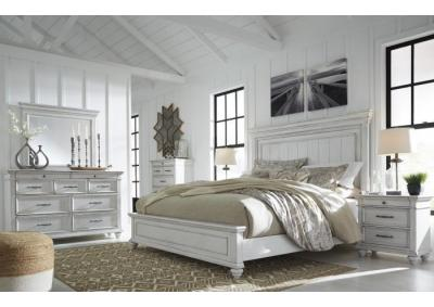 Kanwyn King Panel Bed, Dresser, Mirror, Chest & Nightstand