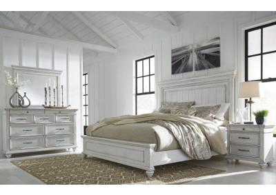 Kanwyn King Panel Bed w/ Dresser & Mirror