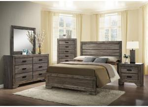 Nathan Queen Bed w/ Dresser & Mirror + FREE Chest & Nightstand
