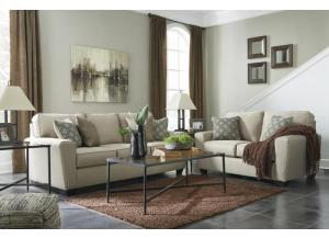 Calicho Ecru Sofa & Loveseat + FREE Augeron Black Occasional Table Set