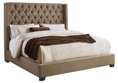 Westerly Brown Upholstered King Bed