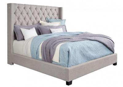Westerly Light Gray Upholstered King Bed