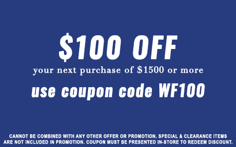 $100 OFF $1500 OR MORE