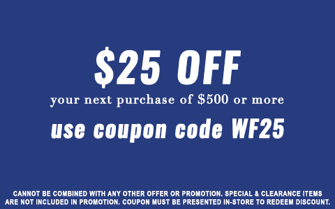 $25 OFF $500 OR MORE