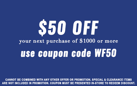 $50 OFF $1000 OR MORE