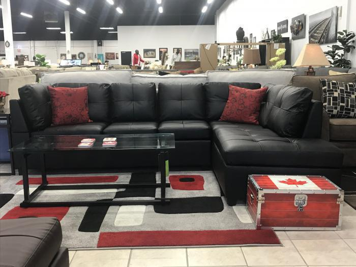 6155 BLACK SECTIONAL,XLNC Xclusives