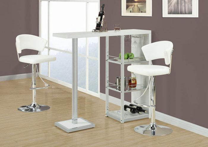QUARTER WHITE BAR STOOL,XLNC Xclusives