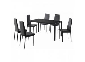 CONTRA BLACK 7 PIECE DINNING SET