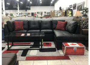 6155 BLACK SECTIONAL