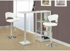 QUARTER WHITE BAR STOOL