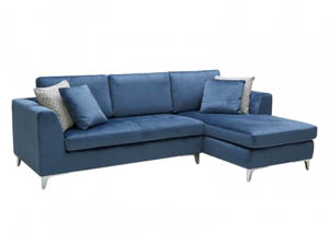JJ's Blue Coconut 2Pc Sectional