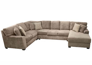 JJ's Favorite Dove Grey 4Pc Colossal Sectional